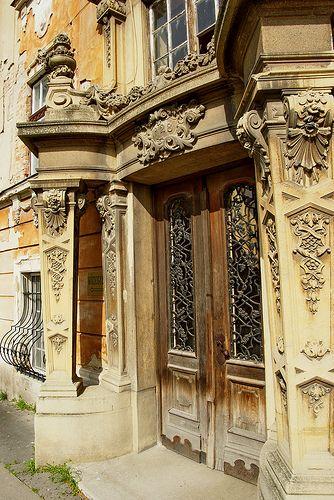 Portal . Esztergom, Neo-Baroque palace