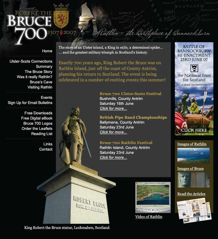 Bruce 700 Ulster-Scots Festival website.