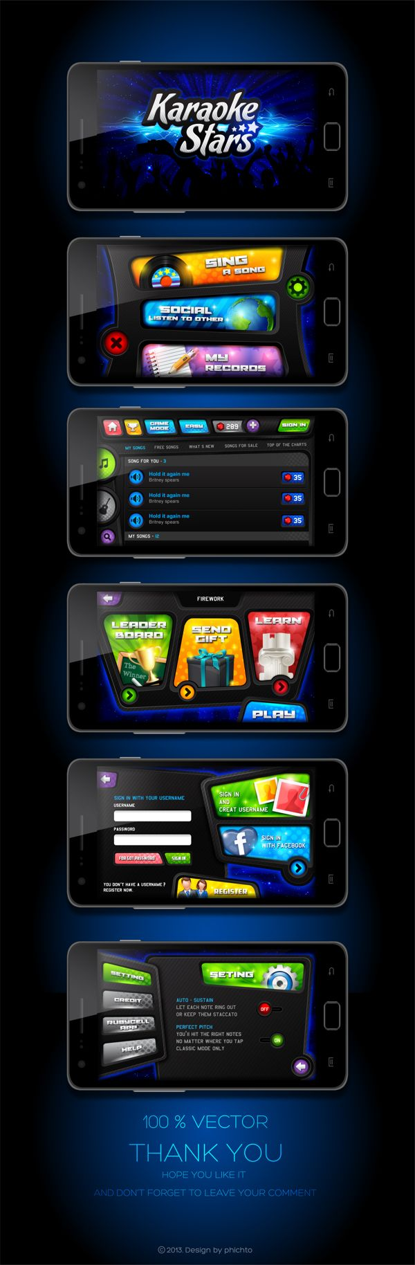 Karaoke Stars - New Game by Phich To, via Behance
