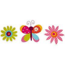 Garanimals Wild Flower 3-Piece Wall Art