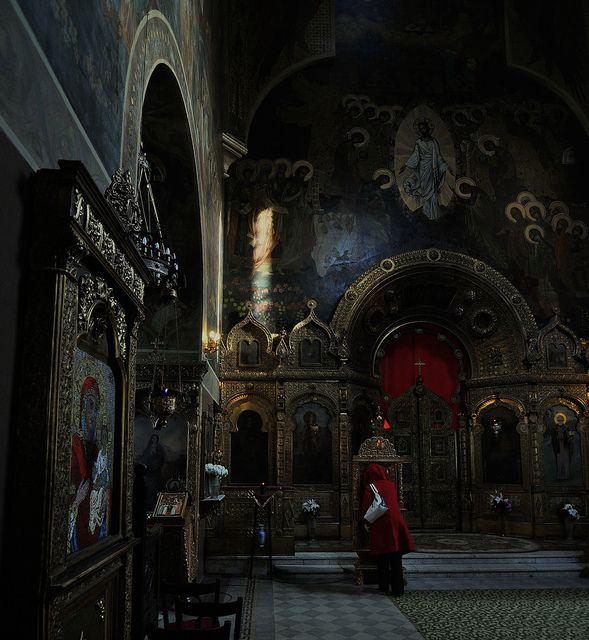 Biserica Rusă, Biserica studenţilor, Bucuresti  St. Nicholas Russian Church [finished in 1909], Bucharest, Romania  Architect: V. A. Prevbrajenski  Murals: Viktor Vasnetsov