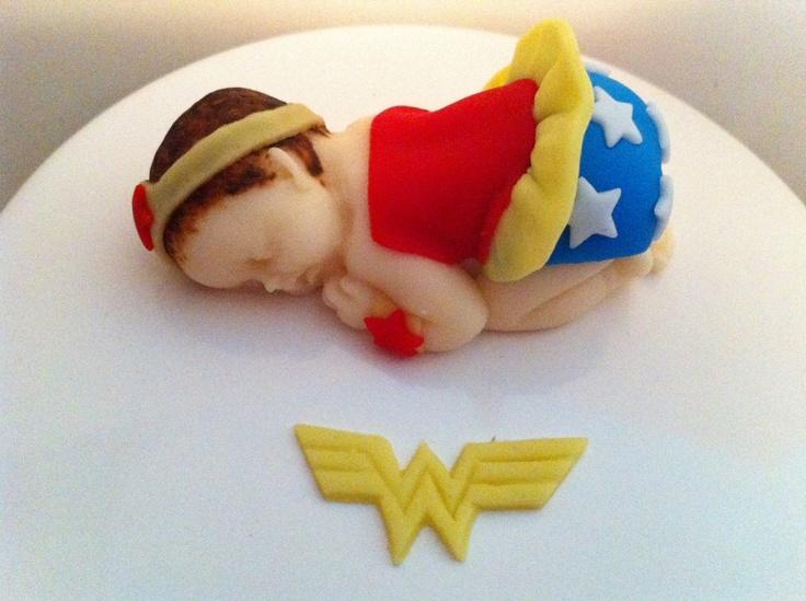 Super Hero Inspired Fondant Baby - Wonder Woman.
