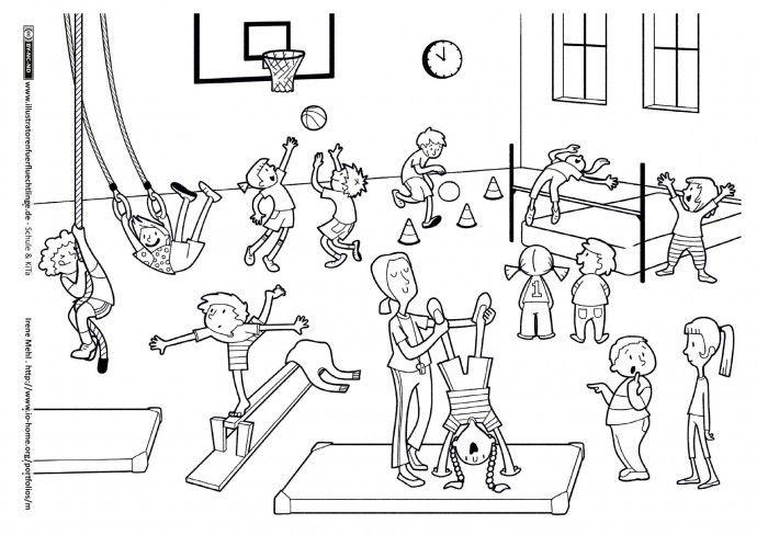 Schule Und Kita Sport Sportunterricht Turnhalle Mehl Sportunterricht Turnhalle Turnen Mit Kindern