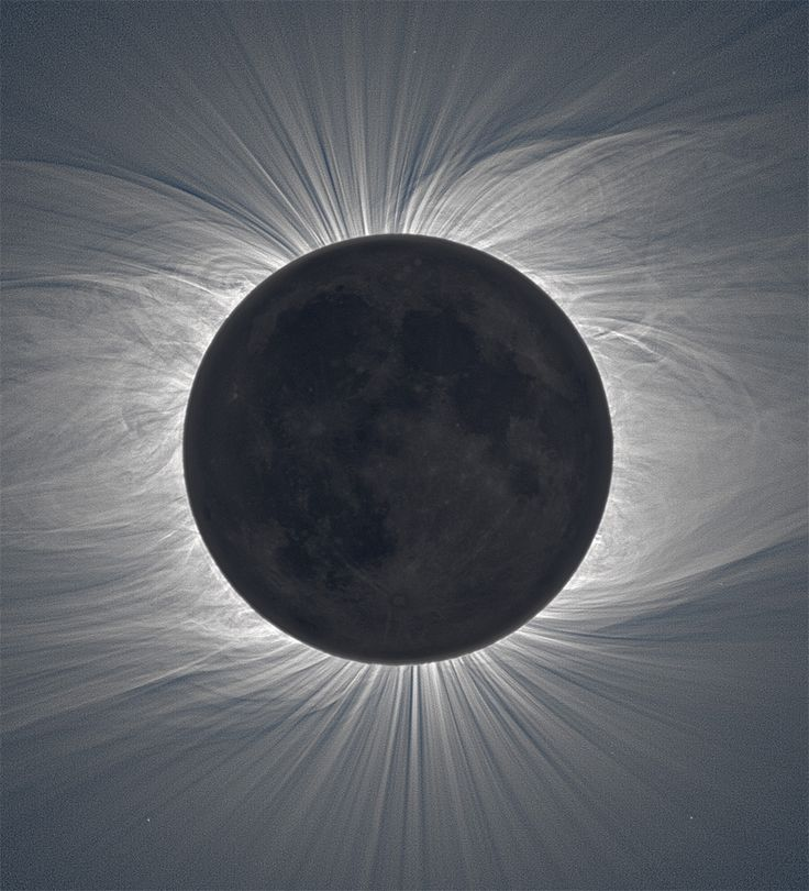 Composite Image of the Moon Taken from 38 Photos Reveals Solar Corona During a Total Solar Eclipse