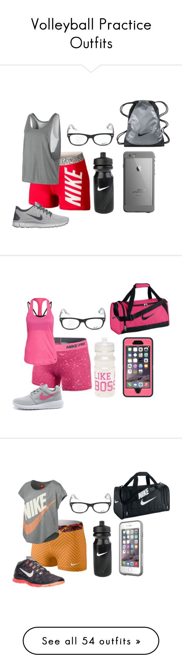 """Volleyball Practice Outfits"" by mbvs on Polyvore..."