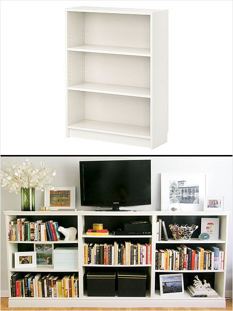 Create a custom entertainment center with Ikea s Billy