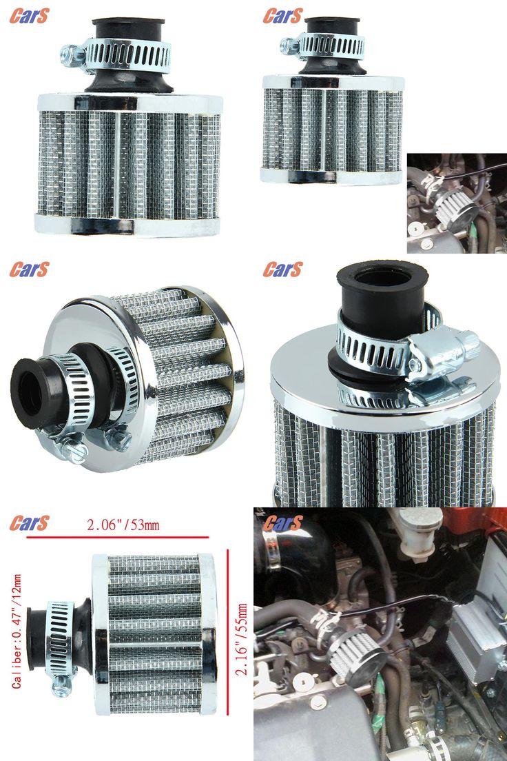 [Visit to Buy] Car Air Filter Car Intake System 12mm Sliver Car Motor Cold Air Intake Filter Turbo Vent Cran Silver car accessories #Advertisement
