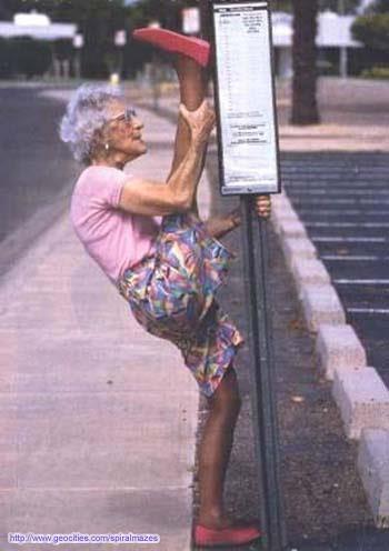 gimnasta de la tercera edad