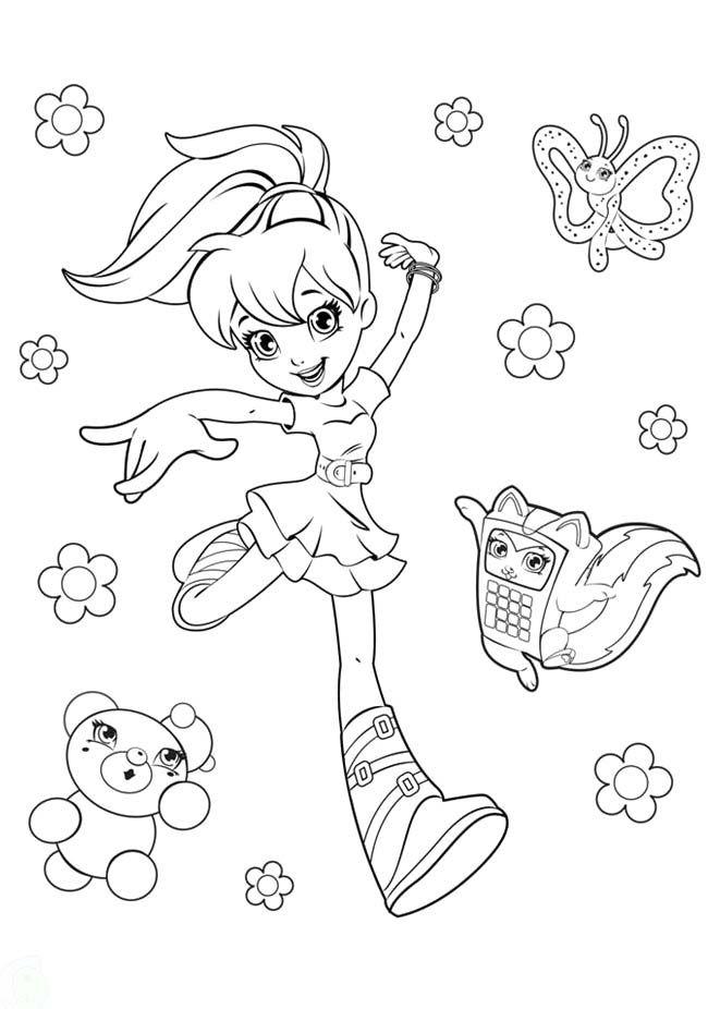 Polly Pocket Coloring Sheets