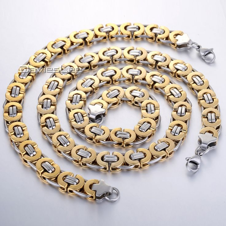 Find More Jewelry Sets Information about CUSTOMIZE SIZE 11mm Byzantine Box JEWELRY SET Stainless Steel Necklace Bracelet Chain Mens Chain Jewelry Set  KS15,High Quality jewelry ss,China jewelry quartz Suppliers, Cheap jewelry hair from Davieslee Store on Aliexpress.com