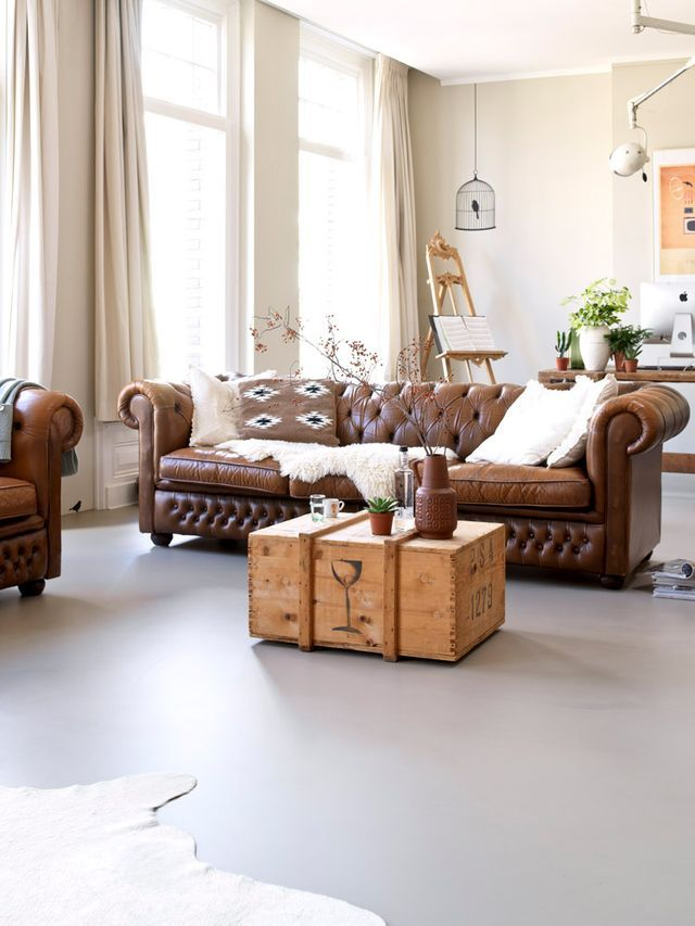 Best Mid Century Modern Sofa A Brown Leather Sofa Is A Stylish 400 x 300