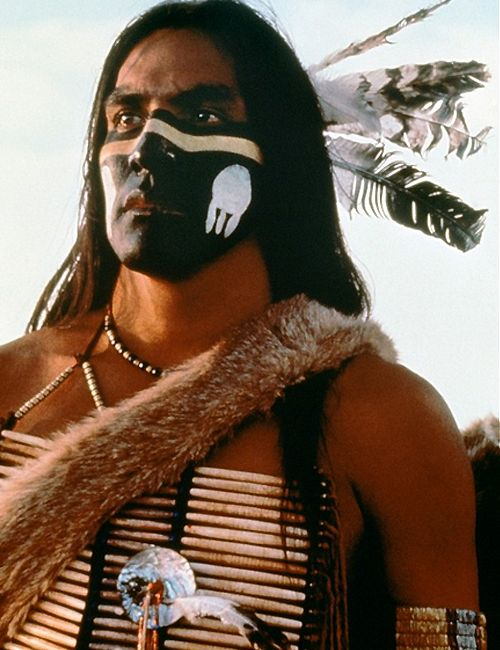 Rodney A. Grant as Wind In His Hair ~ Dances with Wolves 1990. Native American actor, Rodney Arnold Grant was born the 9th of March, 1959. After his biological parents abandoned him, his grandparents raised him from 6 months of age. He is of the Omaha Tribe.  He is pictured (here) in Lakota regalia.