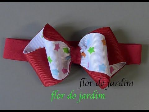 Laço Especial para Princesas -DIY - ribbon bow - YouTube