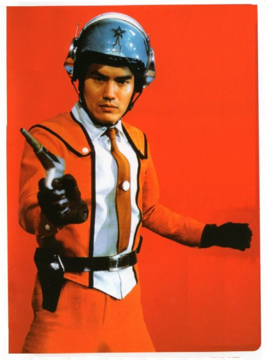 "Susumu Kurobe, in the original 1966 ""Ultra Man,"" as Commander Shin Hayata. He was stationed at the Science Patrol's Tokyo, Japan headquarters."