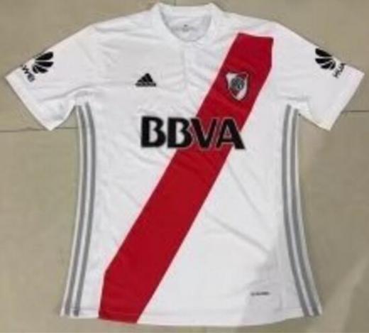 New 2017-18 River Plate Home Soccer Jersey Football Shirt T-shirt Tee Size:s-xl Jerseys Short Sleeve Thailand