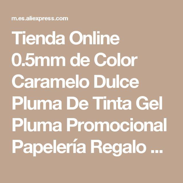 Tienda Online 0.5mm de Color Caramelo Dulce Pluma De Tinta Gel Pluma Promocional Papelería Regalo de La Escuela Oficina Bolígrafos School Office Supply | Aliexpress móvil