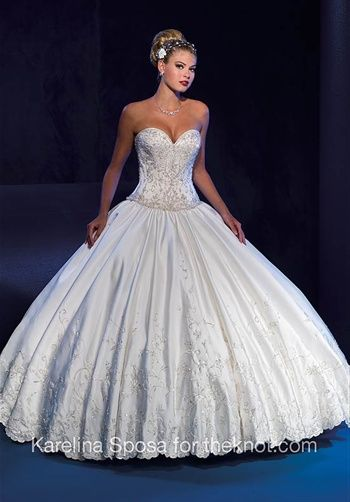 Lillian's dress - but Tulle for the skirt and a lace veil a really long one