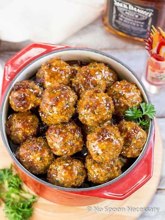 Jack Daniels Glazed Meatballs