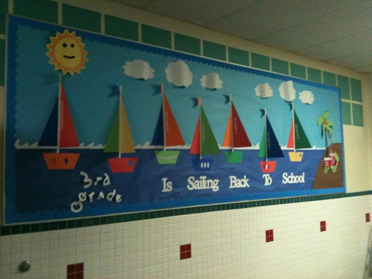 first day of school bulletin board ideas for third grade -