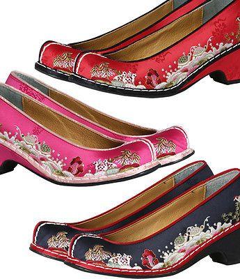 HANBOK-SHOES-Korean-traditional-Women-3-TYPE-5cm-hill-girl-dress-wedding-Bride