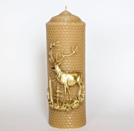 185 once 100% candela di cera d'api candela di RomanticCandle