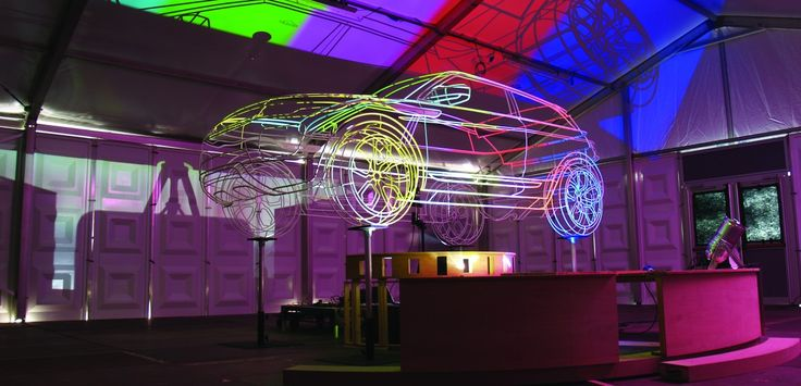 Interactive installation for a major Range Rover Evoque brand activation event connectLIVE