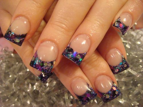 23 best nails images on pinterest acrylic nail tips bright spring nail trends for 2014 purple spring nail art prinsesfo Image collections