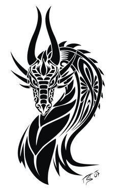 Dragon_Tattoo by *Illumielle on deviantART