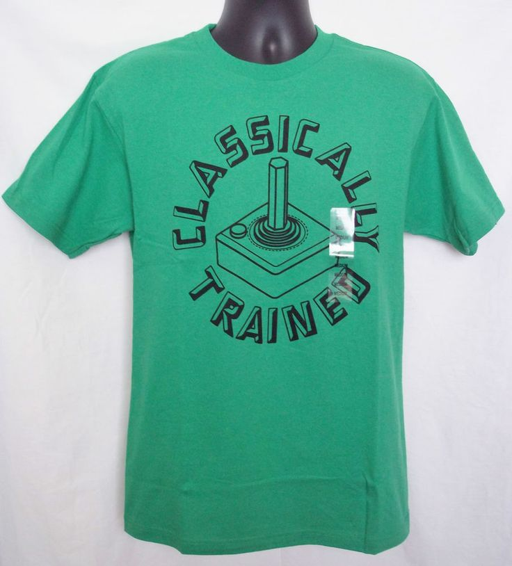 Classically Trained Joystick T-Shirt Old Scool Video Game NWT Green Sz Medium #Optima #GraphicTee