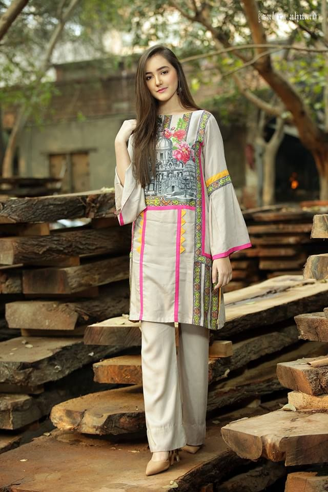 ad37ae4b36c2 Zahra Ahmad New Party Wear Winter Dresses For Girls 2018