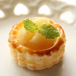 冷凍パイシートde簡単フルーツカップパイ ~桃のパ二エ