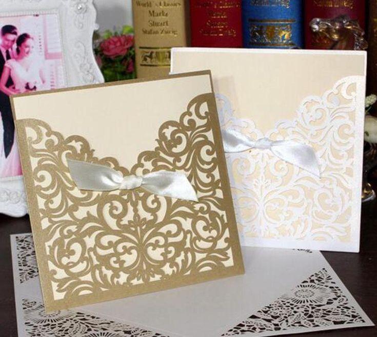 10 sets Wedding Favors Wedding Invitation with