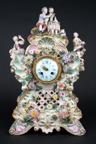.A MEISSEN GERMAN PORCELAIN CLOCK  All materials copyright © 2002–2012 O'Gallerie. All rights reserved