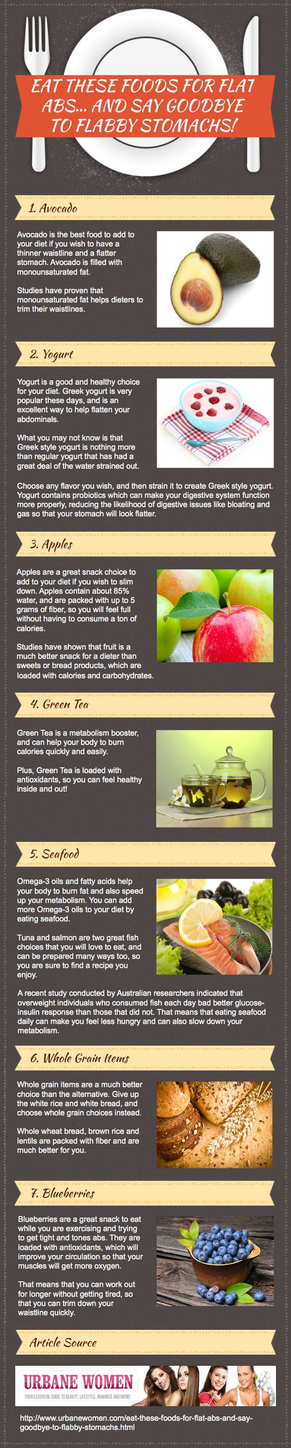 Eat These Foods For Flat Abs… And Say Goodbye To Flabby Stomachs! [Infographic]