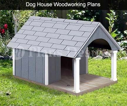 "30"" x 36"" Small Dog House Plans, Gable Roof Style with Porch, Design # 90204G in Pet Supplies, Dog Supplies, Dog Houses 