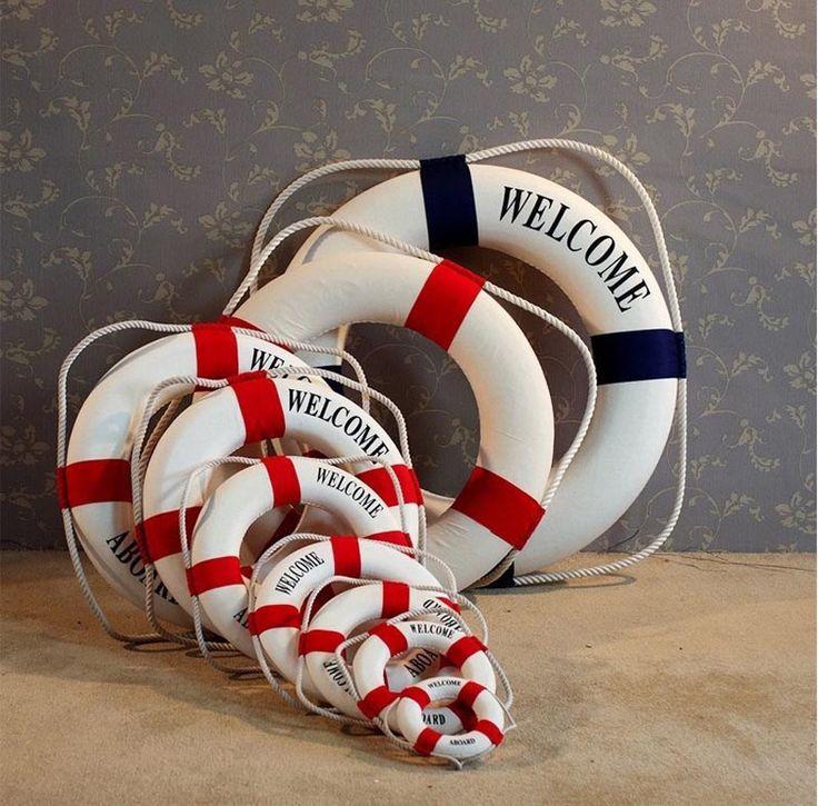 Mediterranean Nautical Decorative Lifebuoy   Free Worldwide Shipping!  Only $6.38    Order from: www.happycozyhome.com