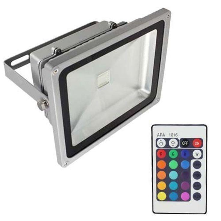 53.12$  Buy here - http://alir0i.worldwells.pw/go.php?t=32691016333 - RGB LED Flood Light  50W  LED Exterior Spotlight IP65 LED Outdoor Light Reflector Spot Floodlight Remote Control
