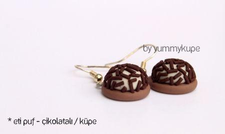 Çikolatalı Eti Puf  #fashion #design #miniature #food #art #miniaturefoodart #polymerclay #clay #minyatur #polimerkil #kil #nutella #tasarim #taki #sanat #moda #sokak #tutorial #yummykupe #mold #kalip #nasil #bileklik #kolye #kupe #yuzuk #aksesuar #kadin #ring #earring #accesorie #necklace #etipuf #eti #puf #cikolata #cikolatali #chocolate #cacao
