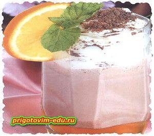 Молочно-кофейный коктейль с медом