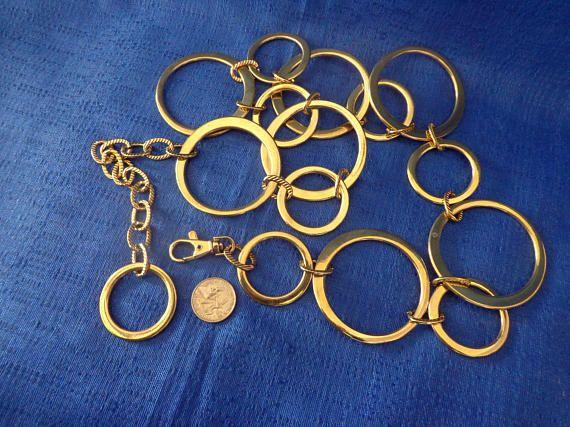 Vintage Art Deco Gold Metal Belt Heavy Metal Belt Boho