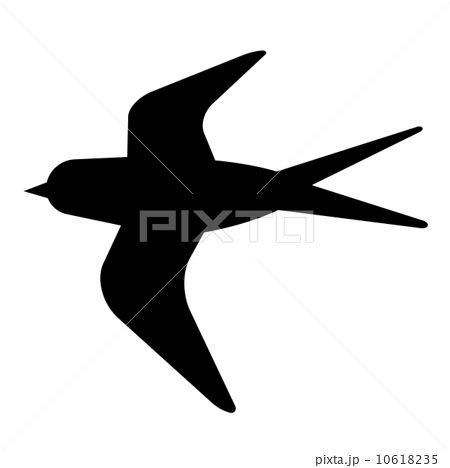 ツバメは使える!鳥 シルエットアイデア