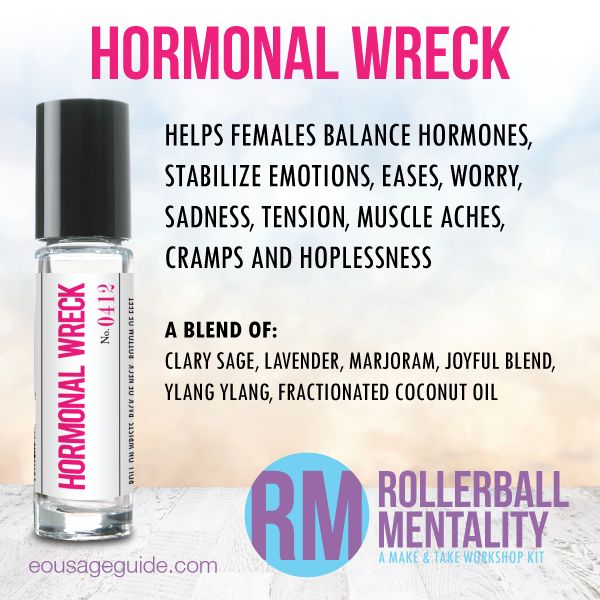 Hormonal Wreck Rollerball Mentality Blend Great For