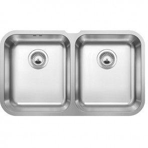 blanco supra 340340u undermount stainless steel kitchen sink bl 519 716