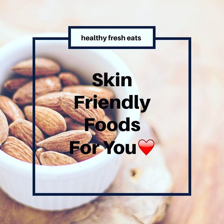 Skin Friendly Foods: #Broccoli #Carrots #Spinach #Salmon #SweetPotato #Lemons #Tomato #Berries #Almonds #DarkChocolate #GreekYogurt  If you know you have an allergy to something (nuts dairy anything) please read all product labels carefully before purchasing and consuming any item.