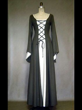 Laced medieval dress