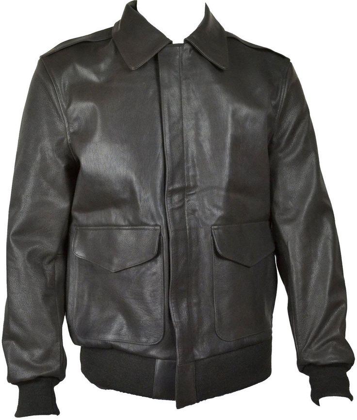 Mens A2 Flight Jacket Goatskin Leather