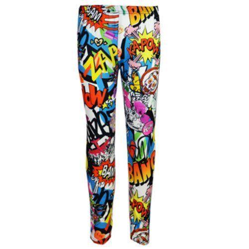 New KIDS TWEEN GIRLS Smiley Bang Bang Comic Printed Midi Dress/Pencil Skirt/Crop Top/Legging AGE 5-13 YEARS: Amazon.co.uk: Clothing