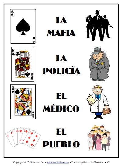 Play MAFIA in language classes to provide comprehensible input!