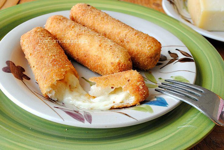 bastoncini di formaggio in carrozza con pancarre'