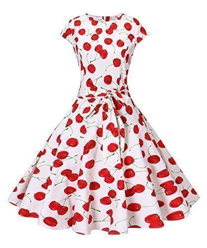 New V fashion Women's 1950s Style Vintage Dress Retro Rockabilly Party Cocktail Dress Polka Dots Solid Color online. Find great deals on Star Vixen Dresses from top store. Sku wouu25778vije12416 #womensfashionretrodresses #womensfashionretropolkadots